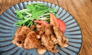 豚ヒレ肉と梅肉のさっぱりソテー