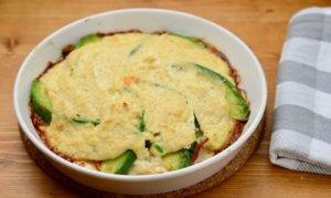 アボカドとハムの豆腐クリームのオーブン焼き